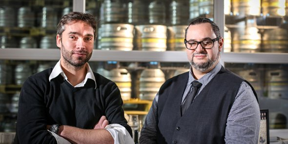 Sébastien Alary et Jean-Olivier Rieusset, les deux fondateurs de la Brasserie Alaryk à Béziers.