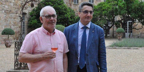 De g. à d.: Joël Castany et Bertrand Girard lors de l'AG de Vinadeis en 2016