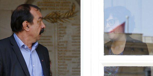 A l'issue de la rencontre avec la ministre, une première depuis début mars, le leader de la CGT a dénoncé l'absence de réaction de François Hollande qui, malgré les différentes mobilisations, n'a pas donné suite à la demande de rencontre formulée par l'intersyndicale opposée à la loi travail.