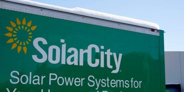 SolarCity, créé en 2006, a accusé une perte de 25 millions de dollars de janvier à mars sur un chiffre d'affaires trimestriel en progrès, à 122,6 millions de dollars.