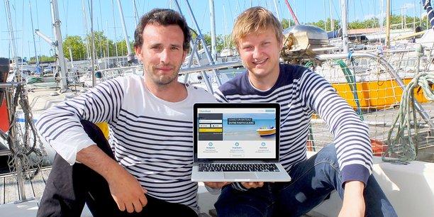 Laurent Calando et Nicolas Cargou, cofondateurs de Samboat