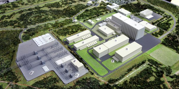 En 2005, la France avait été désignée pour accueillir le réacteur expérimental ITER, dont la maquette est ici présentée.