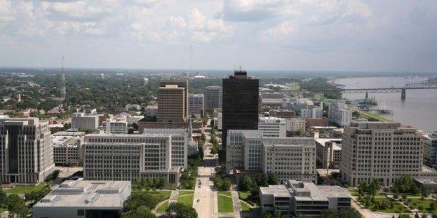 Baton Rouge, en Louisiane, où des tirs ont visé des policiers.