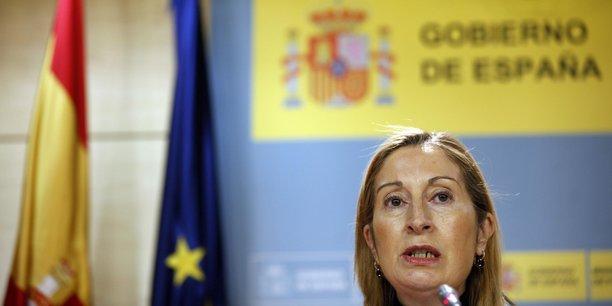 Ana Pastor, ministre des transports, est devenue président du Congrès des députés espagnol.