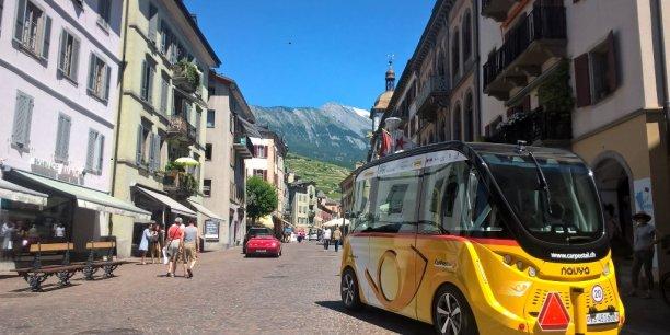La navette autonome Navyrama est désormais en service à Sion, en Suisse.