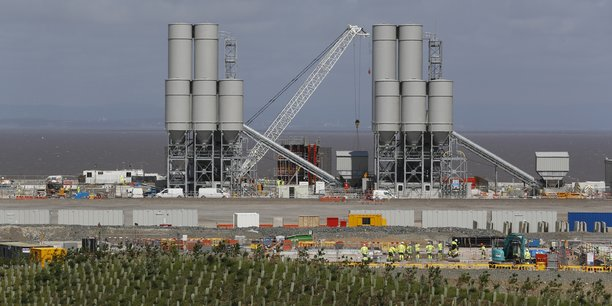 Le chantier d'Hinkley Point en août 2016.