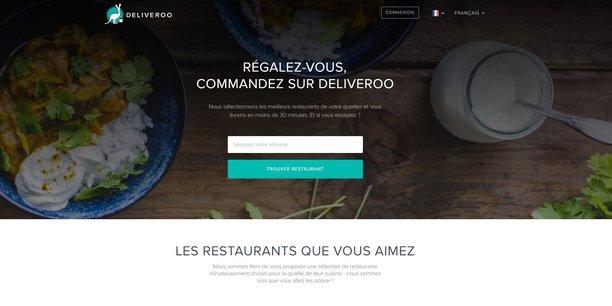 La page d'accueil du site Deliveroo.