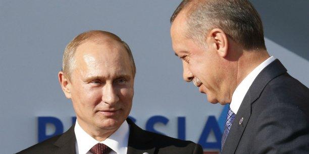 Vladimir Poutine et Recep Tayyip Erdogan au G20 à Saint-Pétersbourg, le 5 septembre 2013.