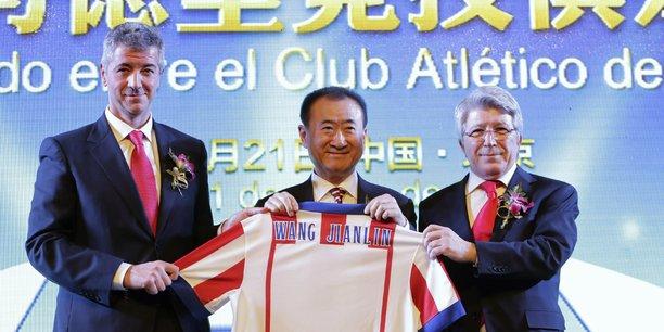 Wang Jianlin (Wanda Group), nouvel actionnaire de l'Atlético Madrid, le 21 Janvier 2015