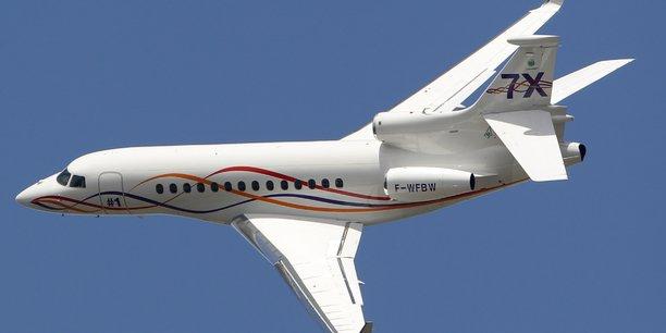 Un Falcon 7X de Dassault Aviation