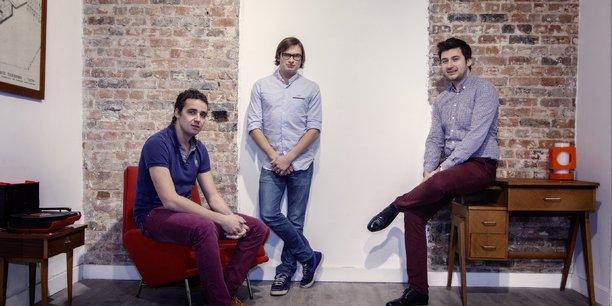 De gauche à droite, Laurent Potel, Vladimir Grudzinski et Vincent Deboeuf, les fondateurs de Reezocar.