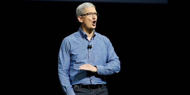 Apple a toujours fait ce qui était juste. » (photo: Tim Cook, le patron d'Apple, lors de son discours à la Conférence mondiale des développeurs, le 13 juin 2016, à San Francisco, Californie)