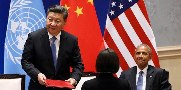 Le président américain Barack Obama et son homologue chinois, Xi Jinping, juste avant l'ouverture du G20.