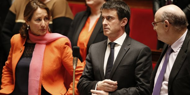 Ségolène Royal et Manuel Valls le 16 février 2016 à l'Assemblée nationale.