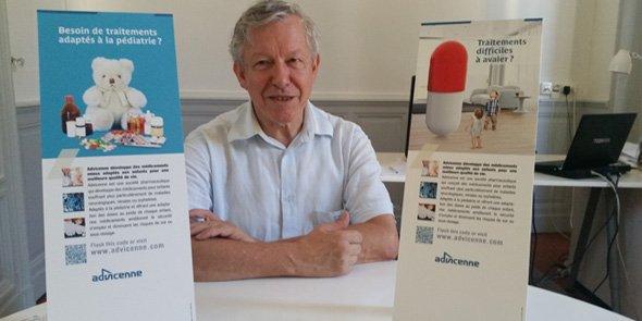 Luc-André Granier, P-dg d'Advicenne, annonce le résultat d'une étude avant l'été