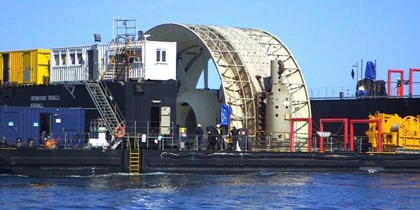 DCNS possède deux turbines dans une ferme pilote développée par EDF en rade de Paimpol, et deux autres dans la baie de Fundy, au Canada.