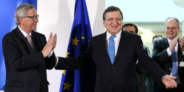 José Manuel Barroso sera reçu à la Commission non pas comme ancien président, mais comme un représentant d'intérêts (privés), a souligné Jean-Claude Juncker.