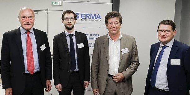 Alain Rousset, Côme Berbain de l'Anssi, Philippe Berlié et Olivier Duchmann