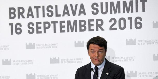 Si nous devons passer l'après-midi à écrire des documents sans âme ni horizon, qu'ils le fassent eux-mêmes, dit Matteo Renzi de ses partenaires européens.