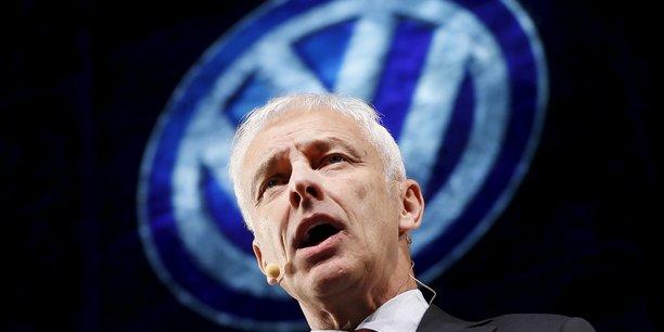 Matthias Müller, PDG de Volkswagen, espère débouter les investisseurs de leur plainte. Il a déjà consenti à régler près de 15 milliards de dollars aux Etats-Unis.