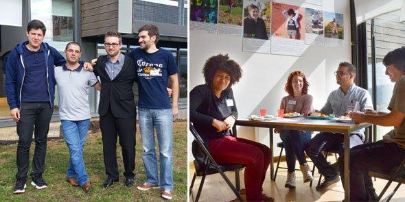 Les entreprises lauréates de BloomUp, Fusyon (à gauche) et HobbyStreet (à droite).