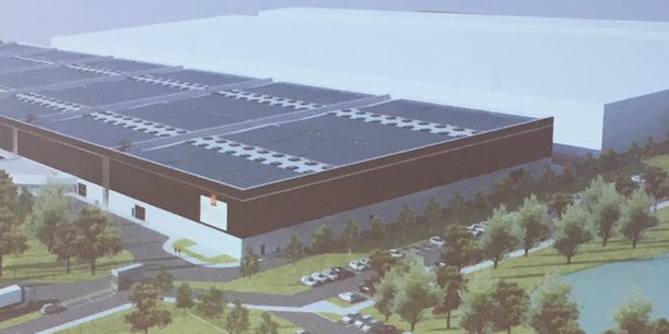 Une vue de ce que sera, en partie, le futur site taille XL de Castel à Blanquefort, près de Bordeaux.