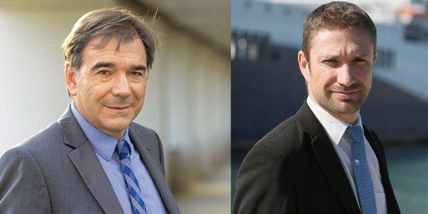 Vincent Malfere et Yves Molina , directeur général et directeur général délégué du groupe SERL