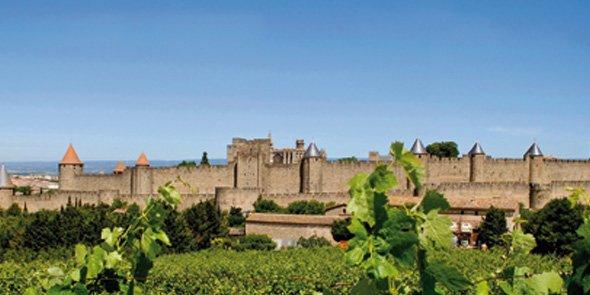 La Cité de Carcassonne, dans l'Aude.