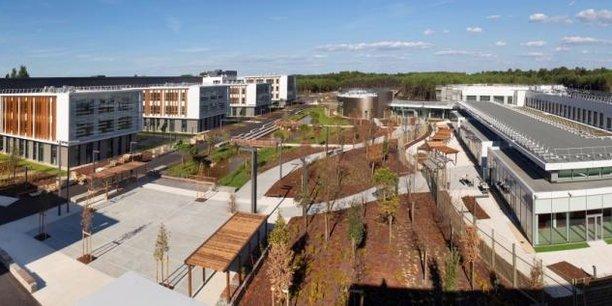 Une partie du Campus Thales Bordeaux qui s'étend sur 13 hectares et a été livré en 18 mois par GA.