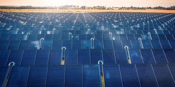 Exemple de centrale solaire thermique (Ici au Danemark) à l'image de celles que newHeat veut développer en France au service de l'industrie, notamment.
