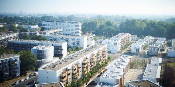 Les immeubles réhabilités du quartier Arago à Pessac (Gironde)