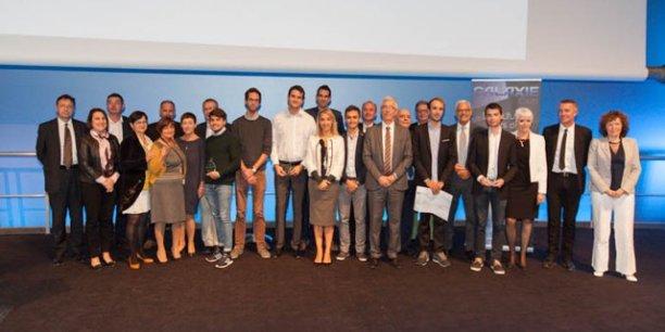 Les lauréats et parrains du Prix Galaxie 2016