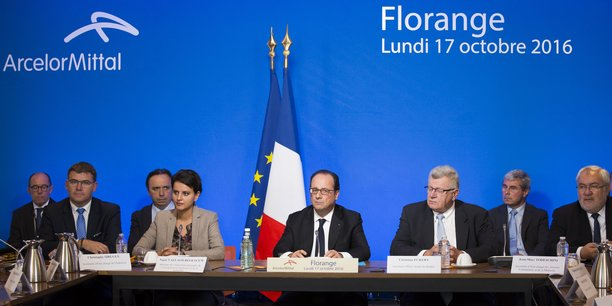 En déplacement à Florange, lundi, le président de la République est revenu sur le dossier des hauts fourneaux de la ville.
