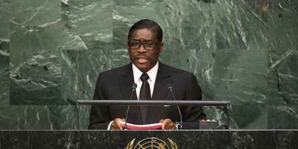 Teodoro Obiang Nguema Junior, lors d'une allocution au siège de l'ONU