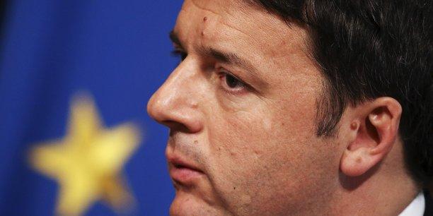Le premier ministre italien Matteo Renzi, démissionnaire