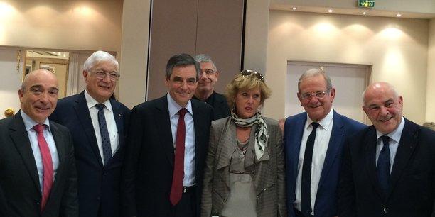 François Fillon lors de sa rencontre avec les chefs d'entreprises azuréens à Nice.