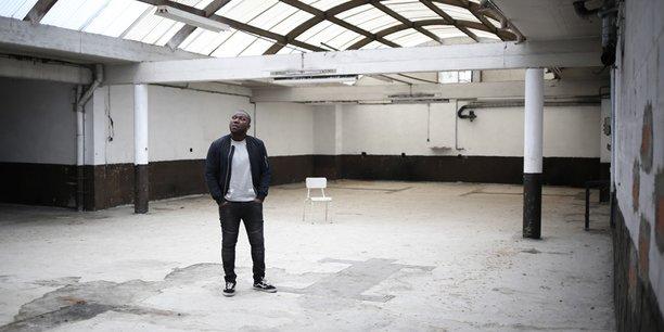 Boris Mounet dans le lieu (encore en chantier) dédié aux startups de Momentum.