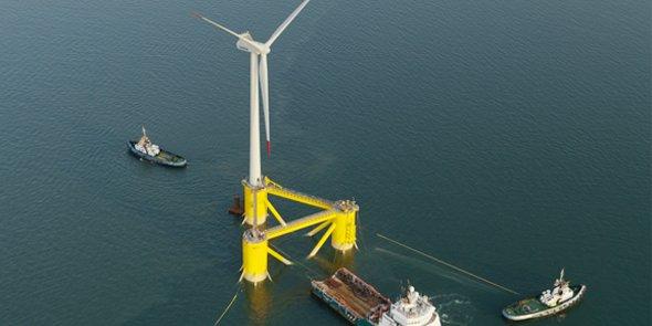 Le projet « Les éoliennes flottantes du golfe du Lion », porté par ENGIE, EDP Renewables, Caisse des Dépôts et Eiffage, installera 4 éoliennes de 6 MW au large de Leucate (11).