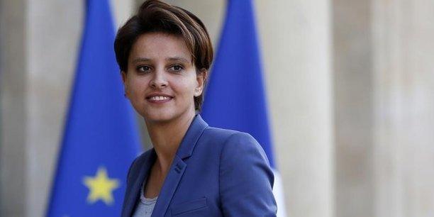 La ministre de l'Education nationale, Najat Vallaud-Belkacem, a défendu son budget devant l'Assemblée.