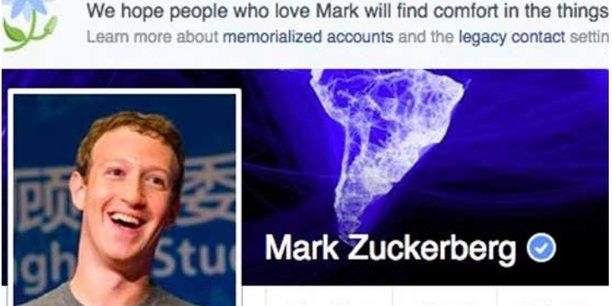 En souvenir de Mark Zuckerberg indiquait le profil Facebook du PDg du réseau social.