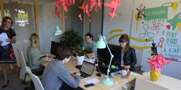 Le département de la Drôme compte aujourd'hui 9 espaces de coworking. Sur ce cliché, Le Moulin, situé sur l'écoparc Rovaltain, à deux pas de la gare Valence TGV.