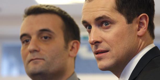 Nicolas Bay (à droite), secrétaire général du Front national veut dénoncer le mythe du réfugié en France.
