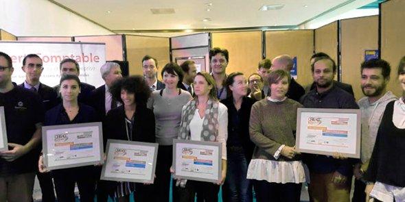 Les lauréats du concours Cré'Acc 2016.