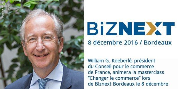 William G. Koeberlé, président du Conseil pour le commerce de France et ancien CEO de Marionnaud, animera la masterclass Changer le commerce le 8 décembre lors de Biznext.