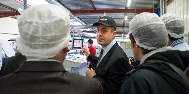 Stefan Kirstetter, le dirigeant de Mallengé, en pleine présentation du labcom.