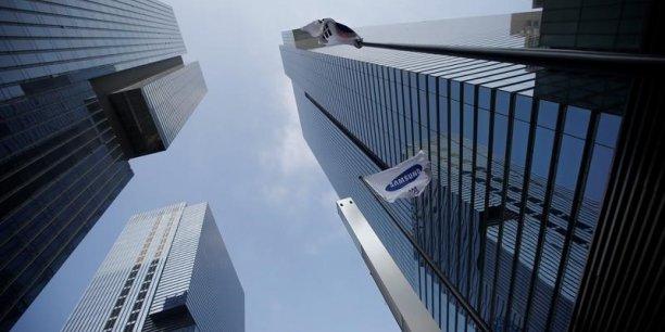Les bureaux de Samsung, à Séoul, Corée du Sud.