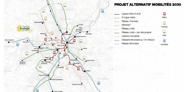 Carte du projet présenté par EELV ce 23 novembre.