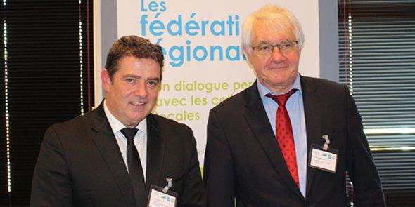 Didier Aldebert et Gilles Broquere, les co-présidents de la nouvelle Fédération régionale des EPL d'Occitanie.