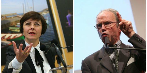 Carole Delga, présidente de la région, et Pascal Mailhos, préfet de région