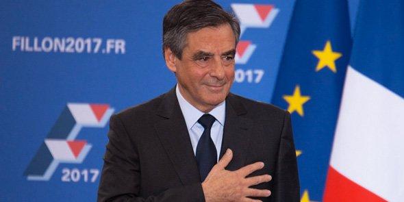 François Fillon, le 27 novembre à la Maison de la Chimie à Paris, au soir du 2nd tour des primaires